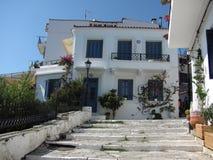 Skiathos в Эгейском море стоковая фотография