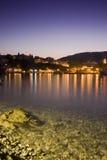 skiathos потока освещенные гаванью старые Стоковые Фото