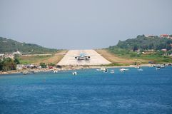 Skiathos airport, Greece Royalty Free Stock Photos
