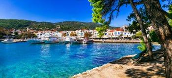Skiathos bonito Sporades do norte de Grécia fotografia de stock royalty free
