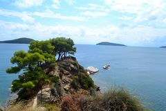 Skiathos, Grèce Images libres de droits