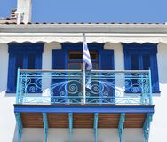 Skiathos Greek Island House Facade Royalty Free Stock Image