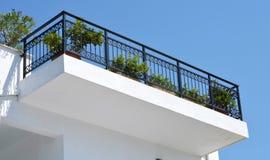 Skiathos Greek Island House Facade Royalty Free Stock Photography