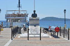 Skiathos Greek Island Monument to Submariners Royalty Free Stock Photography