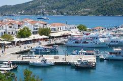 Skiathos Greek Island Port Stock Image