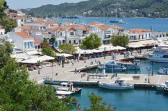 Skiathos Greek Island Port Royalty Free Stock Images