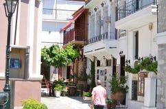 Skiathos Greek Island Street View Royalty Free Stock Images