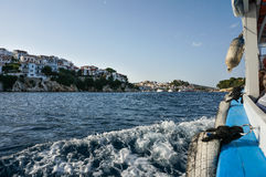 Skiathos greek town and harbour Royalty Free Stock Photo