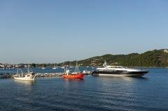 Skiathos harbour Royalty Free Stock Image