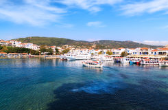 Skiathos Harbour Royalty Free Stock Photography
