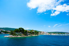 Skiathos island, Greece. Skiathos island in summer, Greece stock images