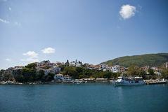 Skiathos island in Greece. Landscape from Skiathos island in Greece royalty free stock photography