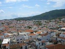 Skiathos miasteczko obrazy royalty free