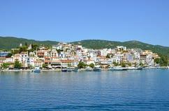 Skiathos miasteczko, Grecja zdjęcie stock