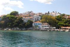 Skiathos miasteczko na Skiathos wyspie, Grecja Zdjęcie Stock