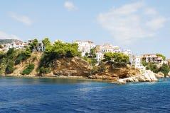 Skiathos miasteczko na Skiathos wyspie, Grecja Obraz Stock