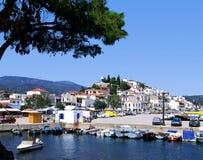 Skiathos port. The port on the Greek island of Skiathos stock photography