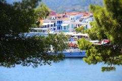 Greek Islands. Skiathos stock photos