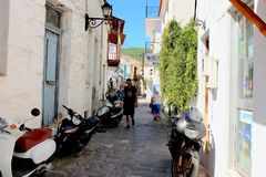 Skiathos stad, Grekland Royaltyfri Foto
