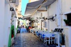 Skiathos stad, Grekland Royaltyfri Fotografi