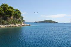 Skiathos-Stadt auf Skiathos-Insel, Griechenland Lizenzfreie Stockbilder