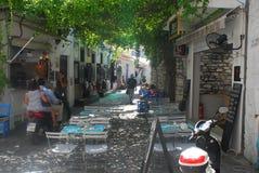 Skiathos-Stadt auf Skiathos-Insel, Griechenland Lizenzfreie Stockfotografie