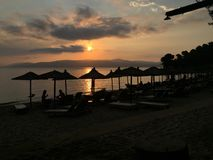 Skiathos by sunset Stock Photo