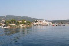 Skiathos town Arkivbild