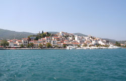 Skiathos Town. Royalty Free Stock Images