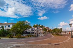Skiathos Town Greece. Beauty, picturesque. Old port at Skiathos town Greece. September 2018 royalty free stock image
