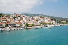 Skiathos Town, Greece Stock Images