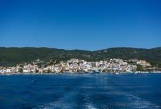 Skiathos town and harbour Stock Photos