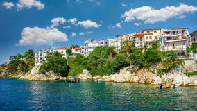 Skiathos town on Skiathos Island, Greece. Royalty Free Stock Images