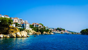 Skiathos town in Skiathos Island, Greece Royalty Free Stock Images