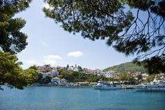 Skiathoseiland in Griekenland Royalty-vrije Stock Foto