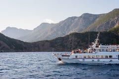 Skiatos Island Boat Trip On Aegean Sea In The Sunset Greece Royalty Free Stock Image