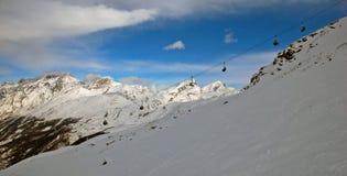 Skiaufzug auf Mont Blanc Lizenzfreie Stockfotos