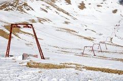 Skiaufzug Azuga, Sorica-Seifenlösung Stockfotos