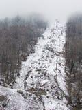 Skiaufzug in Gorki-Stadt im Frühjahr, Sochi Lizenzfreie Stockfotos
