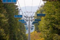 Skiaufzug im Fall Lizenzfreies Stockfoto