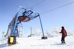 Skiaufzugmechanismus Lizenzfreie Stockfotos