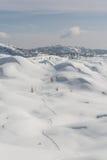 Skibahn in einem Schnee Lizenzfreies Stockbild