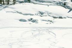 Skibahnen Cuneaz (das Aostatal) Lizenzfreies Stockfoto