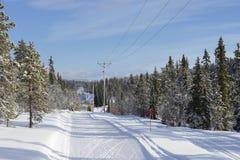 Skibahnen in Schweden Lizenzfreie Stockfotos