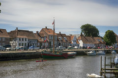 Skibbroen in Ribe Stock Photo