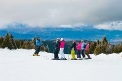 Skibeginners Stock Afbeeldingen