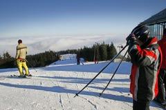 Skibereich stockfotos