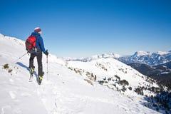 Skibergsteigen in Hohentauern lizenzfreie stockfotografie