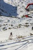 Skibergsteigen in Slowakei Stockbild