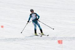 Skibergsteigerfahrten vom Vulkan Team Race-Skibergsteigen Lizenzfreie Stockbilder